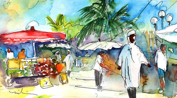 Painting - Carribean Market 02 by Miki De Goodaboom