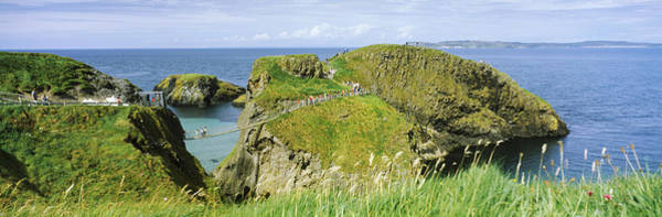 County Antrim Wall Art - Photograph - Carrick-a-rede Rope Bridge by Panoramic Images