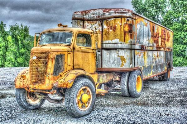 Semi-truck Digital Art - Carrier by Dan Stone
