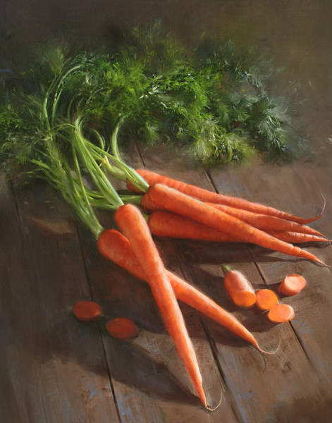 In Wall Art - Painting - Carrots by Robert Papp