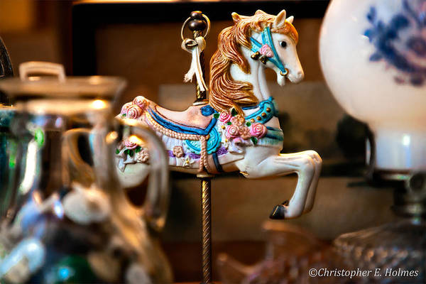Photograph - Carrousel Pony by Christopher Holmes