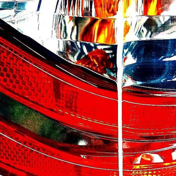 Vehicle Photograph - Brake Light by Jason Michael Roust