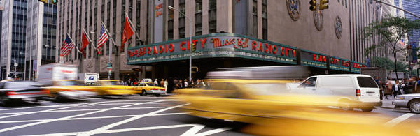 Radio City Music Hall Photograph - Cars In Front Of A Building, Radio City by Panoramic Images
