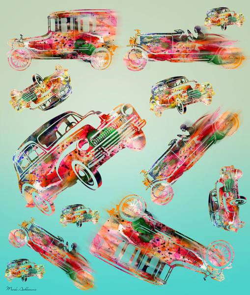 Bmw Painting - Cars  by Mark Ashkenazi