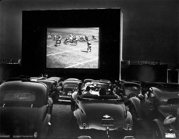 Wall Art - Photograph - Cars Parked At A Drive-in Theater by J. Baylor Roberts