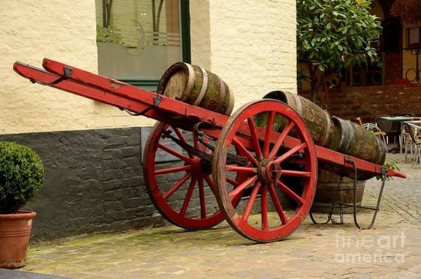 Photograph - Cart Loaded With Wood Beer Barrels by Imran Ahmed