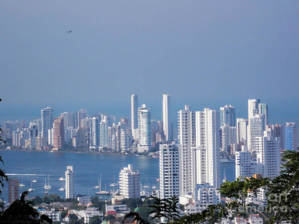 Photograph - Cartagenha Columbia In A Distance by Gena Weiser
