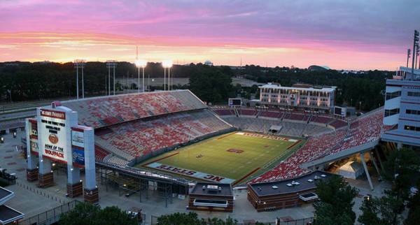 Nc State Wall Art - Photograph - Carter-finley Stadium by Elevated Perspectives LLC