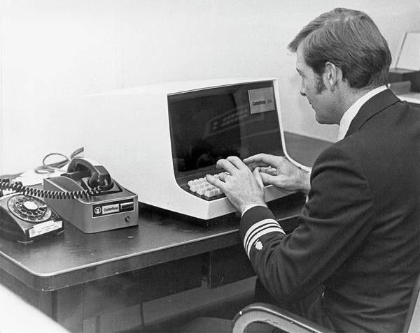 Bethesda Photograph - Carterfone Computer Terminal by Us Navy