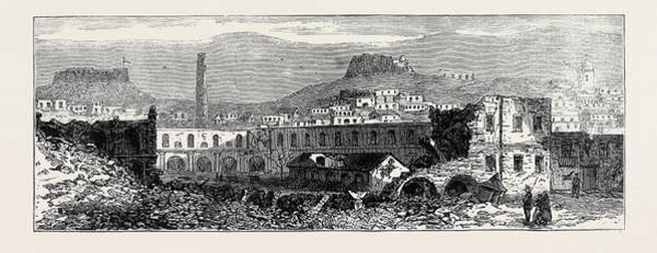 Explosion Drawing - Carthagena After The Siege Scene Of Explosion Of Artillery by English School