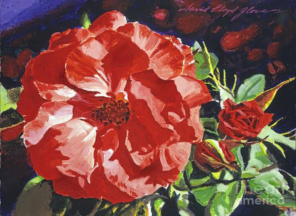 Painting - Cartier Rose by David Lloyd Glover