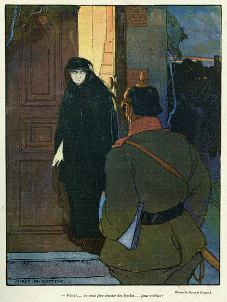 Twilight Drawing - Cartoon, A Confrontation by Mary Evans Picture Library