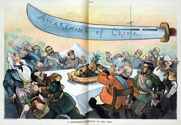 Emperor Of Japan Wall Art - Painting - Cartoon Boxer Rebellion by Granger
