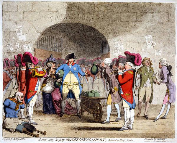 Cartoon British Debt, 1786 Art Print