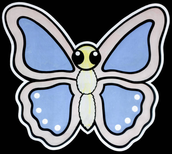 Digital Art - Cartoon Butterfly by Photographic Art by Russel Ray Photos