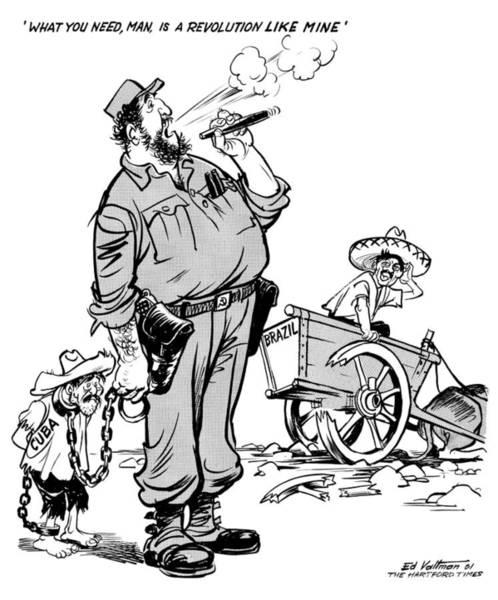 Drawing - Castro, 1961 by Edmund Valtman