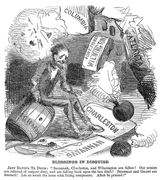 Wall Art - Painting - Cartoon Civil War, 1865 by Granger