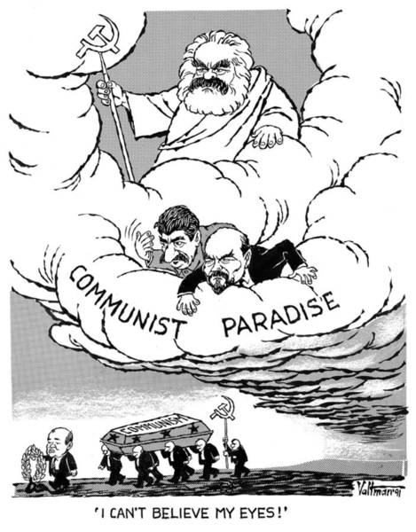 Drawing - Communism, 1991 by Edmund Valtman