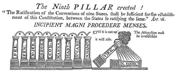 Political Cartoon Painting - Cartoon Constitution, 1788 by Granger