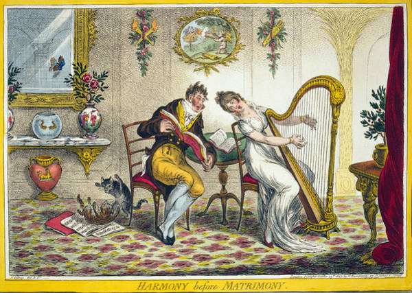 Wall Art - Painting - Cartoon Courtship, 1805 by Granger