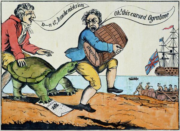 Political Cartoon Painting - Cartoon Embargo, 1811 by Granger