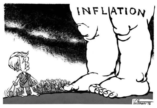 Drawing - Inflation, 1978 by Edmund Valtman