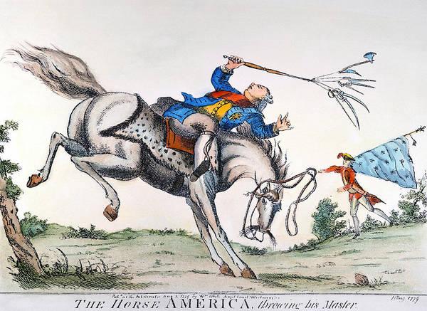 Photograph - Cartoon: Outcome, 1779 by Granger