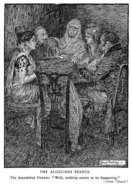 Political Cartoon Painting - Cartoon Seance, 1906 by Granger