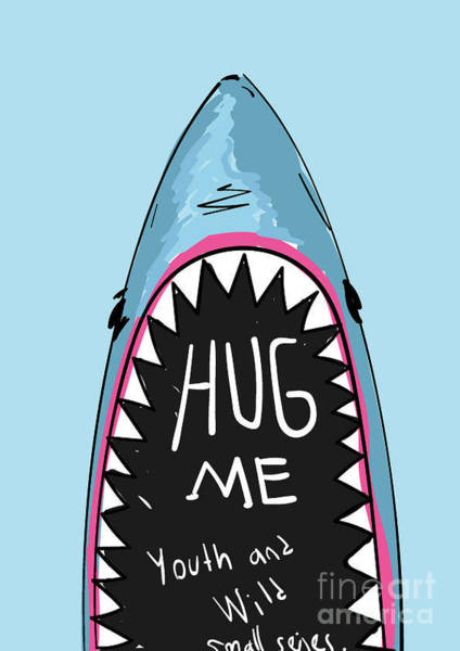 Wall Art - Digital Art - Cartoon Shark For Kids Clothing by Yusuf Doganay