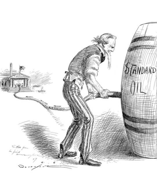Petroleum Drawing - Cartoon Standard Oil, 1907 by Granger