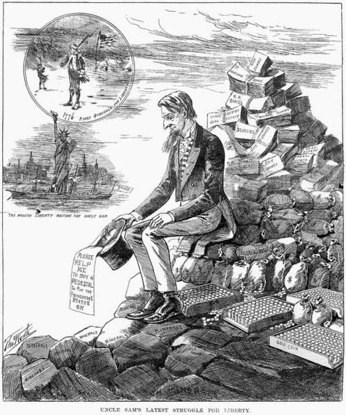 Cartoon Statue Of Liberty Art Print