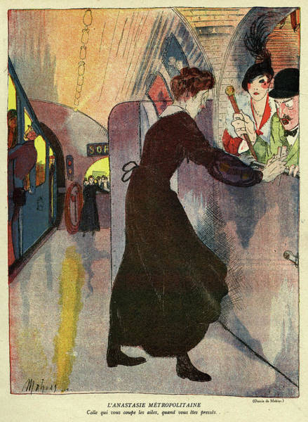 Risk Drawing - Cartoon, The Metropolitan Anastasie by Mary Evans Picture Library