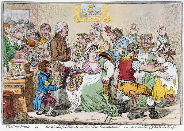 Photograph - Cartoon: Vaccination, 1802 by Granger