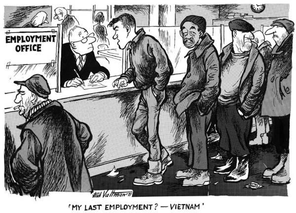 Drawing - Vietnam Veterans, 1971 by Edmund Valtman
