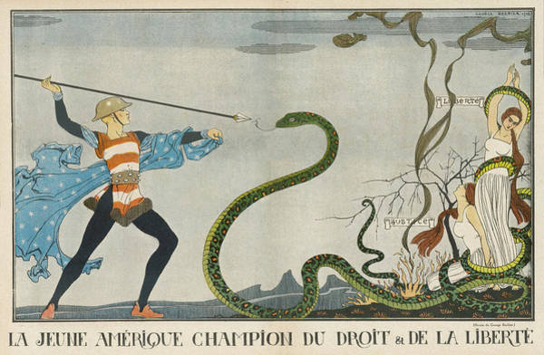 First Star Drawing - Cartoon, Young America, Champion by Mary Evans Picture Library