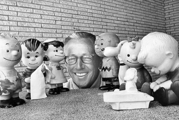 Photograph - Cartoonist Charles Schultz by Underwood Archives