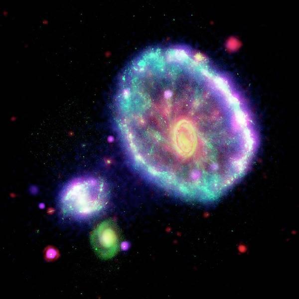 Interacting Galaxies Wall Art - Photograph - Cartwheel Galaxy by Nasa/jpl-caltech/science Photo Library