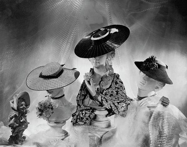 Wheel Photograph - Cartwheel-style Hats By Wanamaker And J.w by Cecil Beaton