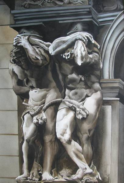 Painting - Carved In Stone by Alfred Ng