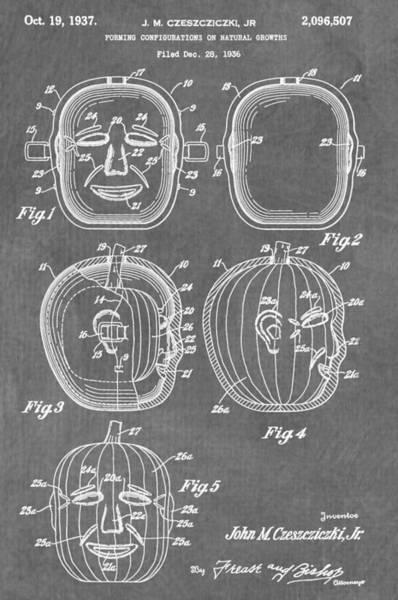 Digital Art - Carved Pumpkin Patent by Dan Sproul