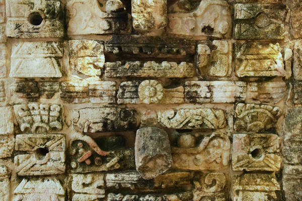 Chichen Itza Photograph - Carved Stonework On The Temple by Panoramic Images