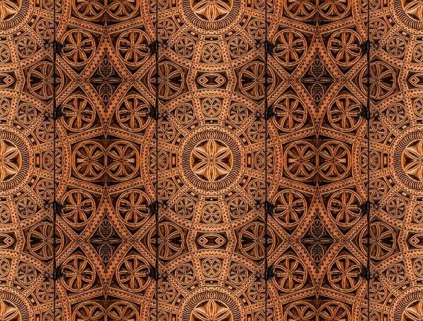 Hakon Photograph - Carved Wooden Cabinet Symmetry by Hakon Soreide