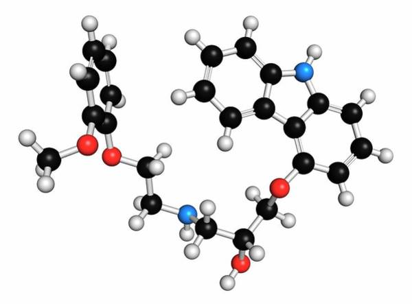 Pharma Wall Art - Photograph - Carvedilol Molecule by Molekuul