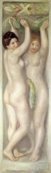 Wall Art - Painting - Caryatids by Pierre Auguste Renoir