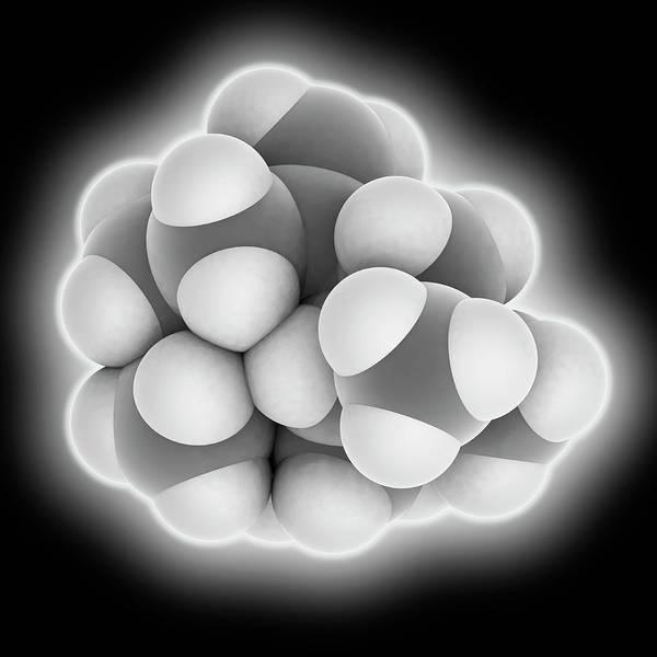 Wall Art - Photograph - Caryophyllene Molecule by Laguna Design