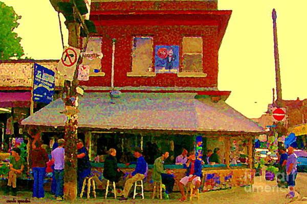 Painting - Casa Acoreana Paris Style Sidewalk Cafe Augusta Ave Toronto Paintings City Scenes C Spandau Art by Carole Spandau