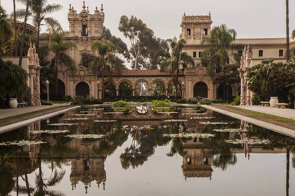 Photograph - Casa De Balboa And House Of Hospitality Reflecting In The Lily Pond At Balboa Park by Lee Kirchhevel