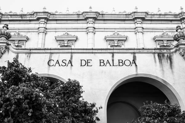 Photograph - Casa De Balboa In Black And White by Priya Ghose
