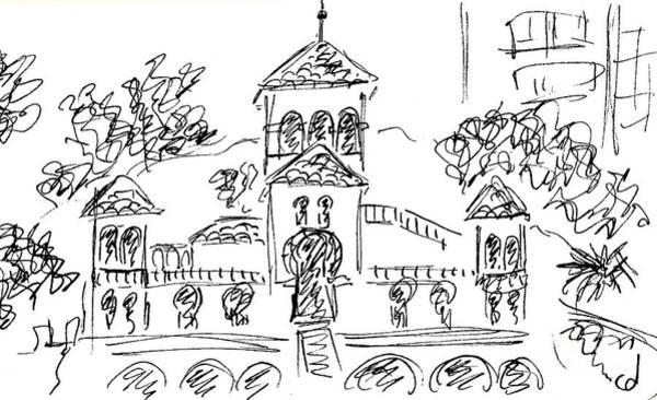 Drawing - Casa De Los Navajas In Torremolinos by Chani Demuijlder