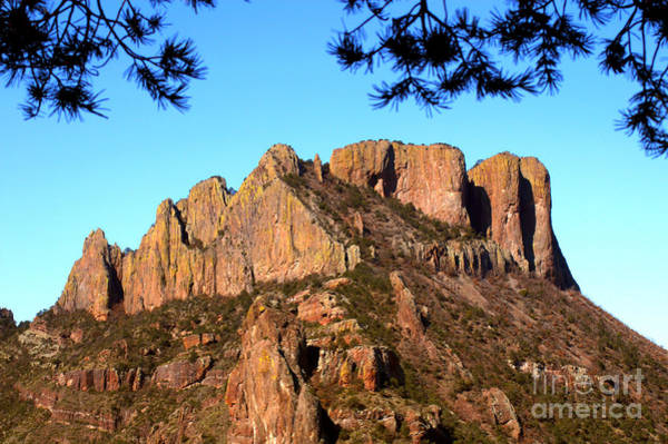 Chisos Mountains Photograph - Casa Grande Mountain, Big Bend, Texas by Gregory G. Dimijian, M.D.